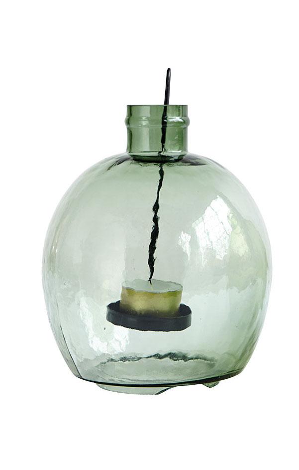 bauchige Flasche fŸr Teelichter